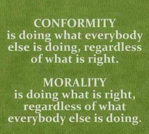 conformity and morality